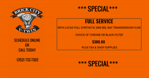 FULL SERVICE WITH LUCAS FULL SYNTHETIC SPECIAL
