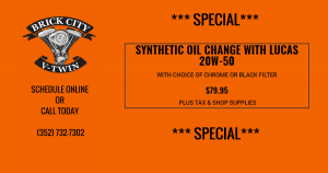 SYNTHETIC OIL CHANGE WITH LUCAS 20W-50 SPECIAL