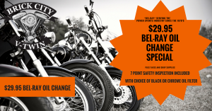 29.95 Bel-Ray Oil Change Special at Brick City V-Twin Ocala FL